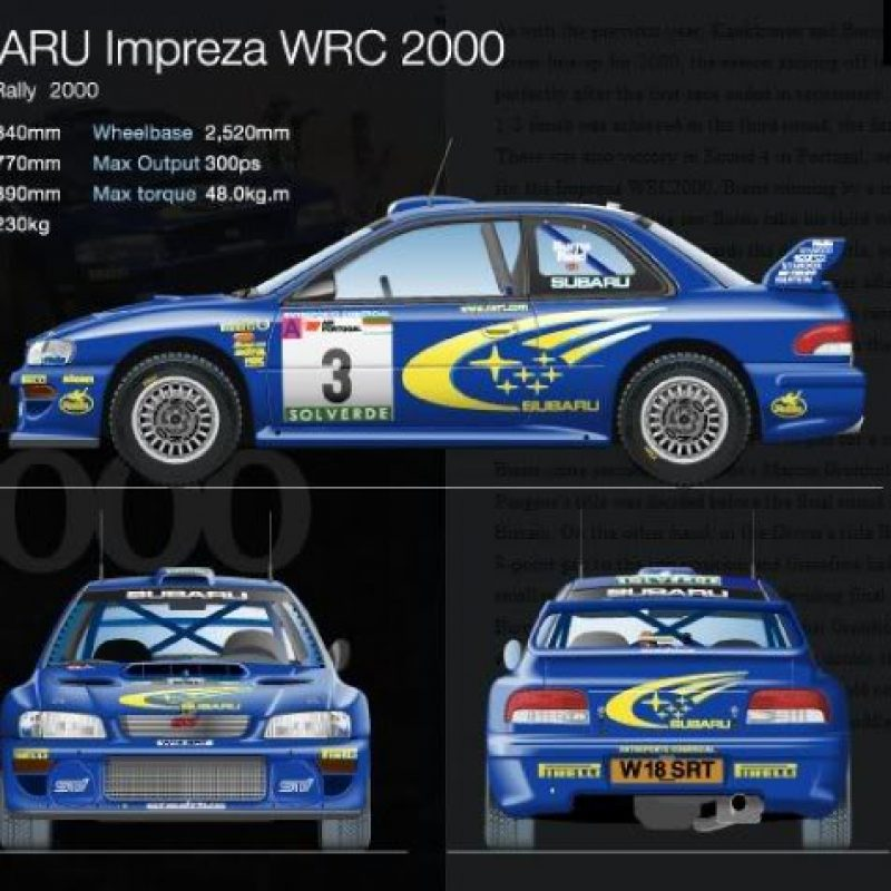 WRC rally decals Subaru Impreza S6/P2000