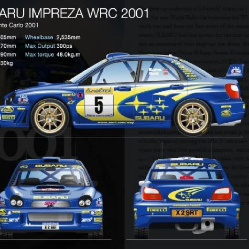 Rally decals Subaru Impreza WRC S7 (Rally Monte Carlo 2001)