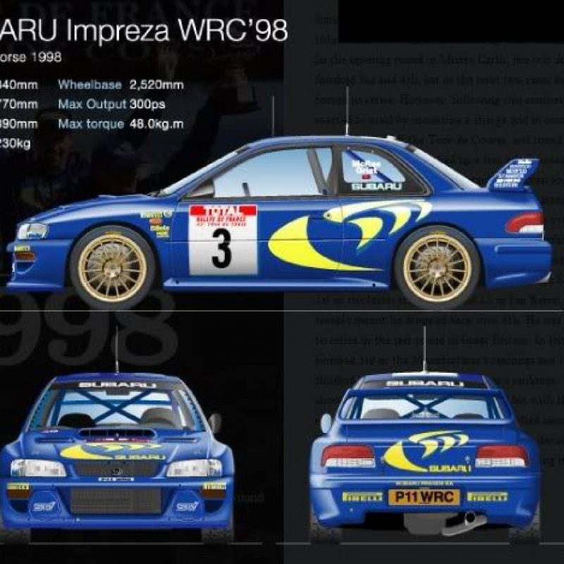WRC rally decals Subaru Impreza S5